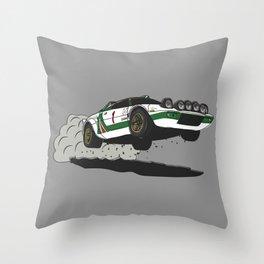 Stratos Rallycar Throw Pillow