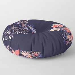 Colorful Night Roses Floor Pillow