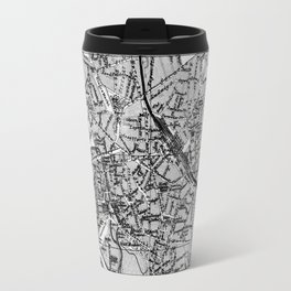 Vintage Map of Hanover Germany (1895) BW Travel Mug