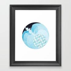 Apple Sleeping Framed Art Print