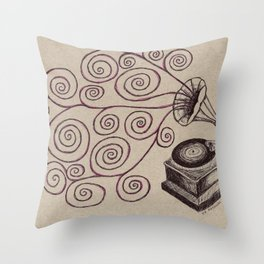 Music Spiralling Throw Pillow