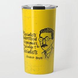 Friedrich Hayek Illustration Travel Mug