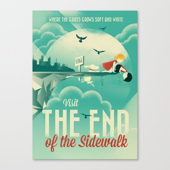 The End of the Sidewalk Canvas Print