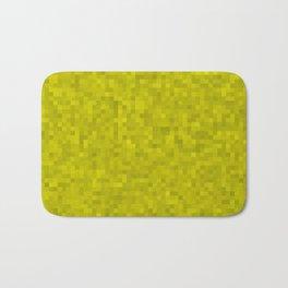 Pixelated Yellow Bath Mat