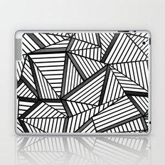 Ab Lines 2 Black and White Laptop & iPad Skin