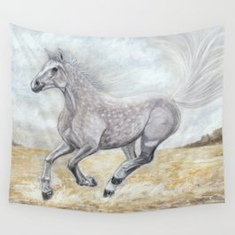 Gallop on the Sands Wall Tapestry