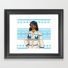 Very Merry Isabela Framed Art Print