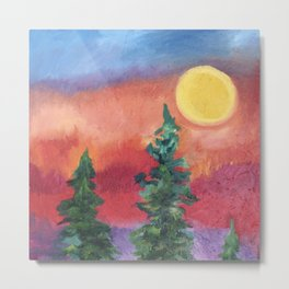 Fire in the Northern Sky Metal Print