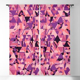 Colourful triangular mosaic in the nuance of pink Blackout Curtain