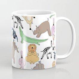 safari animal yoga Coffee Mug