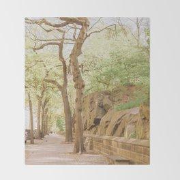 Spring on Central Park West Throw Blanket