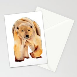 ours blanc sans banquise Stationery Cards