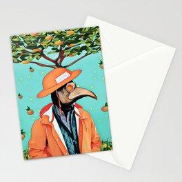 Orange man Stationery Cards