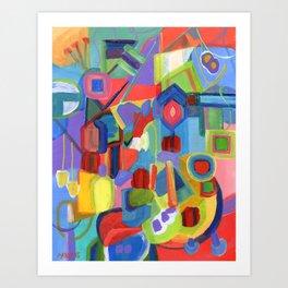 Diamonds, a colorful abstract Art Print