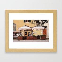 Piazza Santo Spirito  Framed Art Print