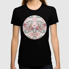 Lily, Leaf & Triangle Pattern – multi-color version T-shirt
