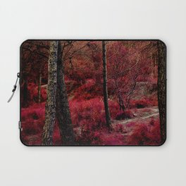 Red forest landscape electric alien Laptop Sleeve