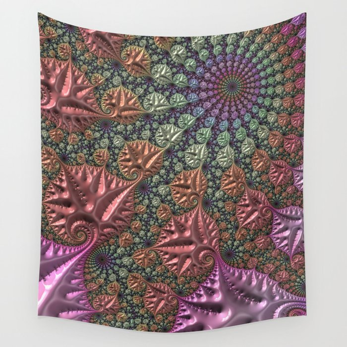 funky fractal Wall Tapestry