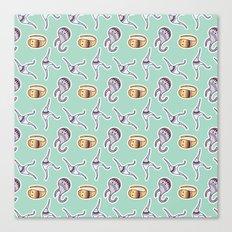 sticker monster pattern 1 Canvas Print