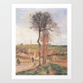 Camille Pissarro - Rue de l'Hermitage and the Côte des Mathurins, Pontoise Art Print
