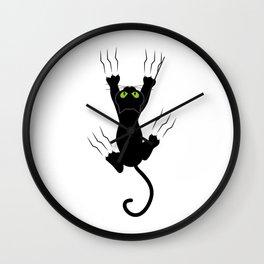 Gato en caida!!! Wall Clock
