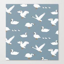 Summertime Swans Canvas Print