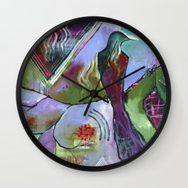 """Honor East"" Original Painting by Flora Bowley Wall Clock"