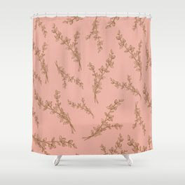 thyme herb pattern Shower Curtain