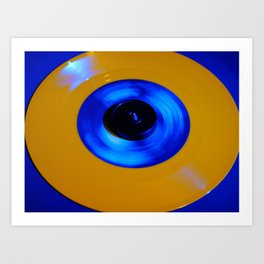 Yellow Blue Record Art Print