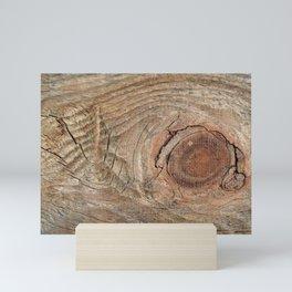 Wood with knot Mini Art Print