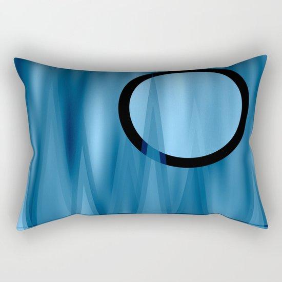 Blue Moonlight Rectangular Pillow