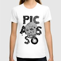 pablo picasso T-shirts featuring Pablo Picasso - History of Art by RJ Artworks