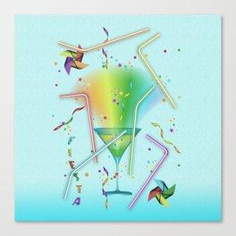 STRAWS Canvas Print