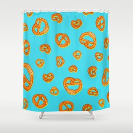 Pretzel love colorful pop pattern Shower Curtain