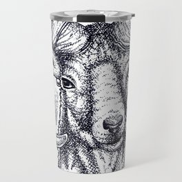 mountain goat- dots Travel Mug