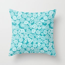 Absract Circles Throw Pillow