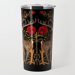 Two Stags Protecting The Dark Forest Gate Travel Mug