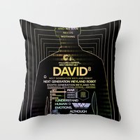 prometheus Throw Pillows featuring David8 - Prometheus by Chubbybuddhist