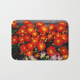 Chinese New Year Flowers Bath Mat