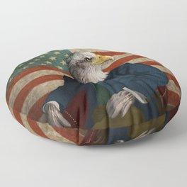 Official Portrait of Senator Silas Eagle Floor Pillow