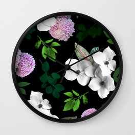 Night bloom Wall Clock