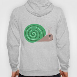 Cute green Snail T-Shirt for Women, Men and Kids Hoody