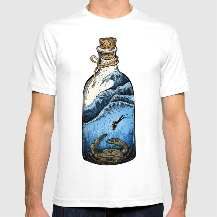 Deep blue bottle T-shirt