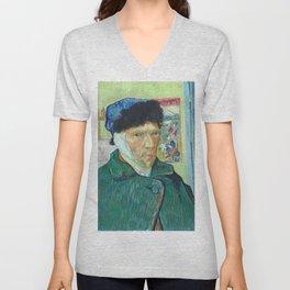 Vincent van Gogh - Self-Portrait with Bandaged Ear Unisex V-Neck