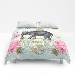Paris Elephant Comforters