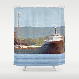 Lee Tregurtha Freighter Shower Curtain