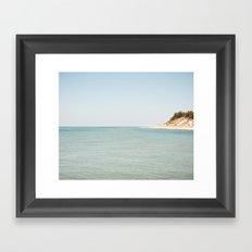 The Point Coastline Framed Art Print