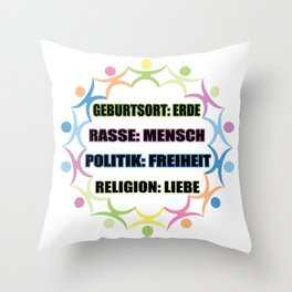 Human charity nature conservation religion gift Throw Pillow