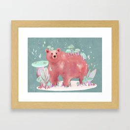 beary nice to meet you Framed Art Print