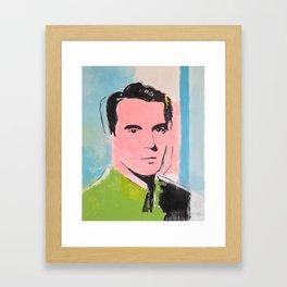 Feel the Byrne ! Original David Byrne Painting Framed Art Print